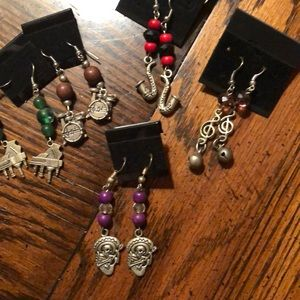 NWOT. Earring lot. 5 pairs. Music theme